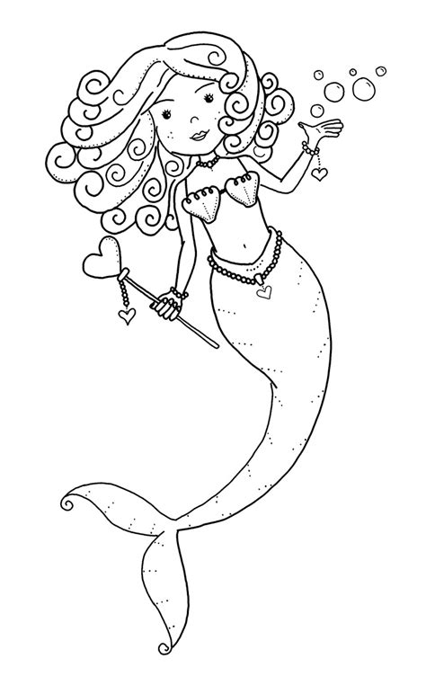 coloring page baby mermaid mermaid color page girls party theme pinterest