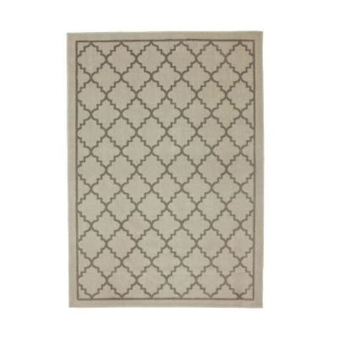 mohawk home border lattice linen 8 ft x 10 ft area rug