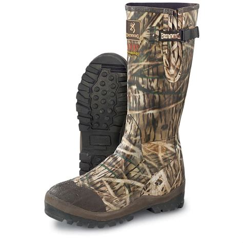 s browning 174 rubber boots mossy oak 174 shadow grass