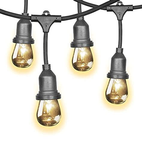 feit outdoor weatherproof string light set feit 48ft 14 6m indoor outdoor weatherproof string