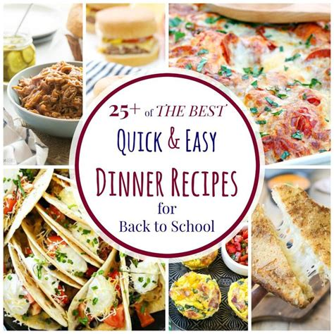 25 easy dinner recipes 25 of the best and easy dinner recipes for back to school cupcakes kale chips