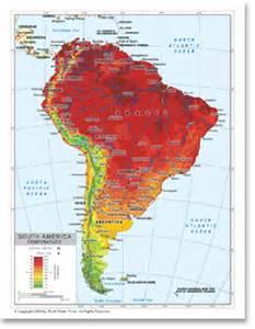 thematic map of south america map still average annual precipitation in south america