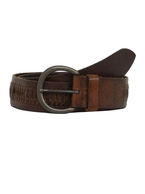 90s vintage guess belt 90s guess mens well worn brown