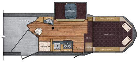 trailer living quarter floor plans 7 ft wide 10 215 10 living quarters trailer floor plan