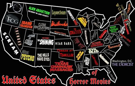 most popular tv shows set in illinois awesome horror map of the united states bloody disgusting