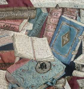 tapestry fabric antique library book print 50 inches by 28