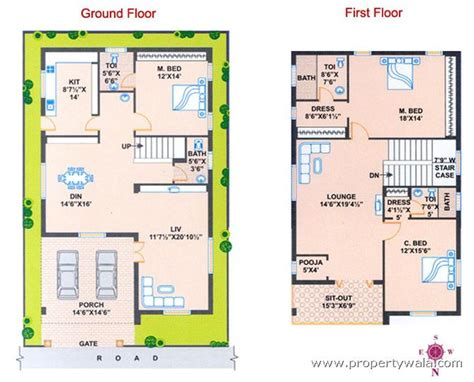 facing house vastu plan