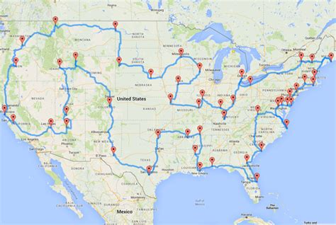 road travel map an algorithm created the ultimate us road trip here s the map