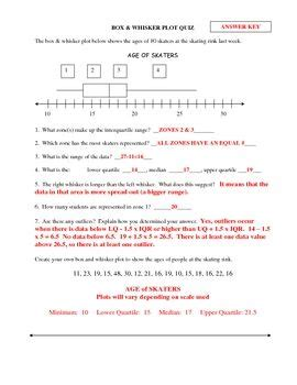 Box And Whisker Plot Worksheet 2 Answers by Box Whisker Plot Quiz This Is A 8 Question Quiz