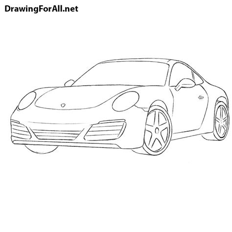 How To Draw A Drawingforall by How To Draw A Porsche 911 Drawingforall Net