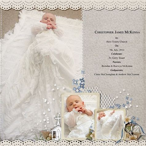scrapbook layout ideas baby christening pin by bob janne morrison on scrapbooking cards