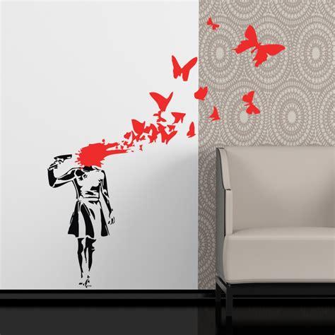 wall stickers banksy banksy butterflies wall sticker