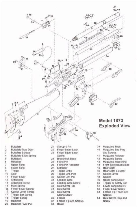 winchester model 94 diagram winchester 1873 parts diagram winchester lever guns