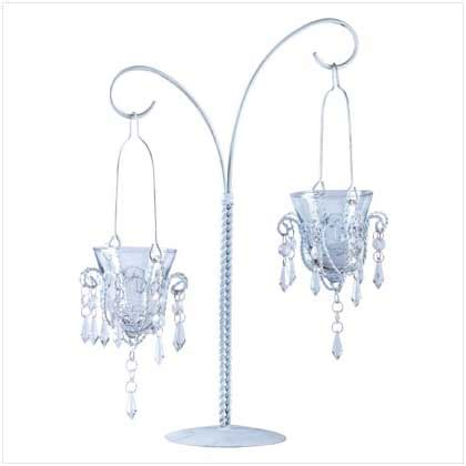 Crystal Chandelier 2 Hanging Votive Candle Holder Stand Ebay Votive Candle Chandelier