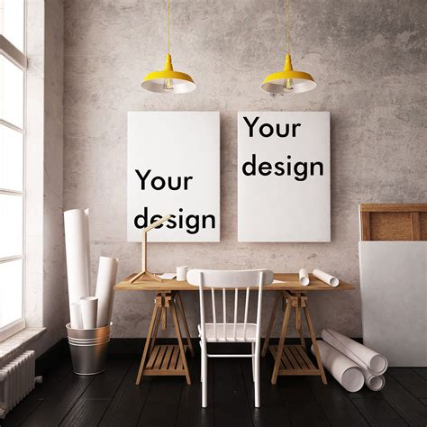 mockup interior  posters  print mockups