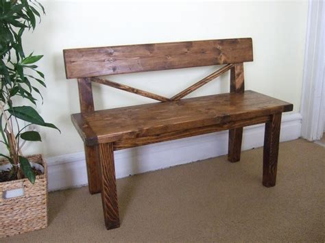 wood bench with back farmhouse style bench rustic bench with back solid wood