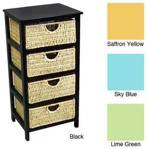 Drawer compact wicker basket storage shelf contemporary baskets