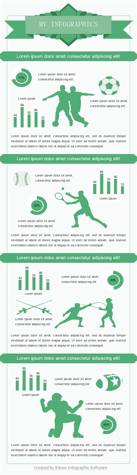 download and reuse sports infographic templates