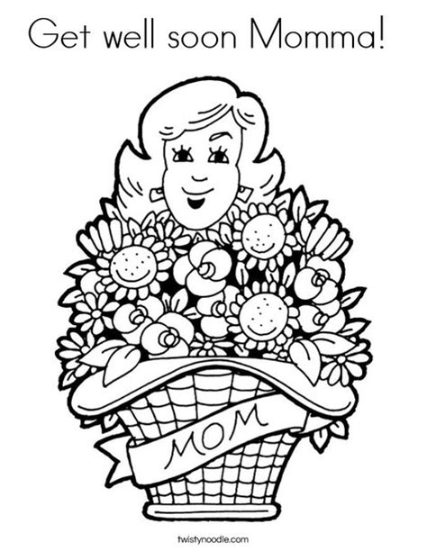 get well soon momma coloring page twisty noodle