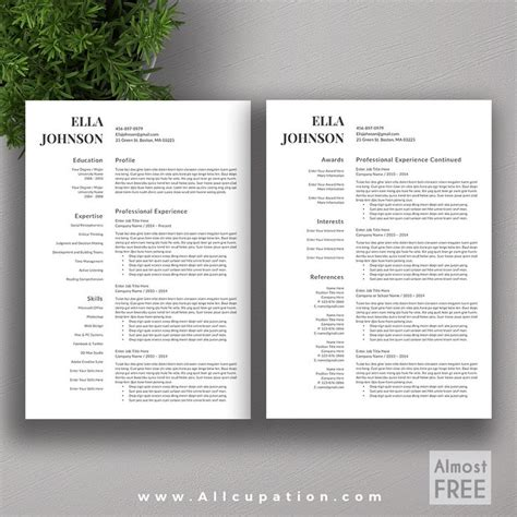 2 Page Resume Templates Free by Best 20 Creative Resume Templates Ideas On Cv