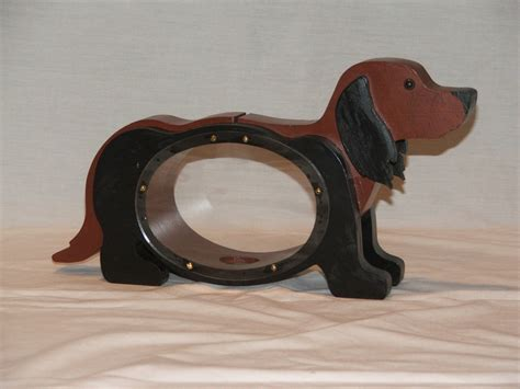 puppy piggy bank wood piggy bank dachshund