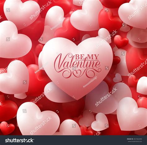 valentines de colorful soft smooth hearts stock vector