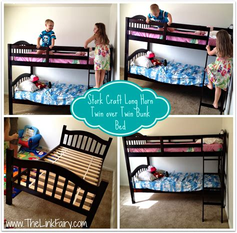 storkcraft bunk bed stork craft long horn twin over twin bunk bed review
