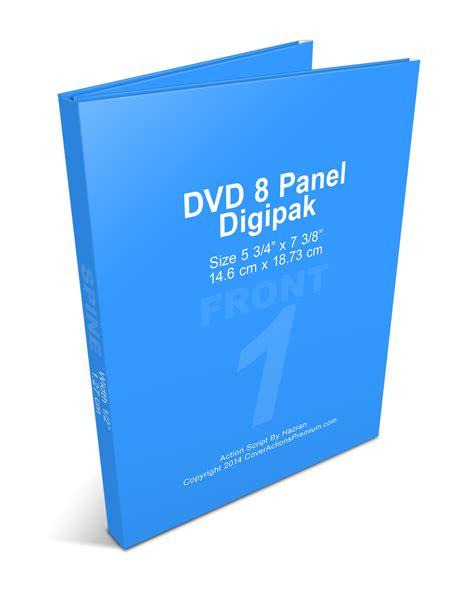 Cetak Dvd Digipak Set gatefold dvd 8 panel digipak mock up set cover actions premium mockup psd template