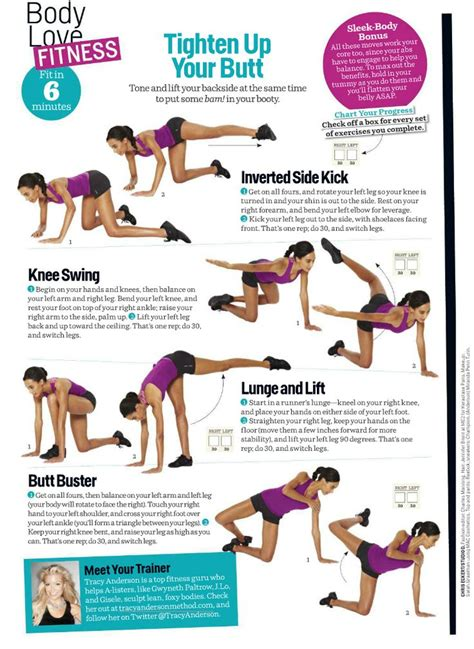 Top 7 Exercises To Tighten Up The Buttocks by Tighten Up Your Tracy Fit In 6 Minutes