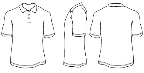 Polo Shirt Outline Template Beautiful Template Design Ideas Polo Shirt Design Template