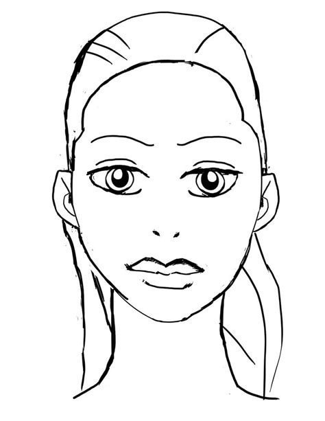 coloring pages of people s faces face sketch 15 by eastphoto99 on deviantart