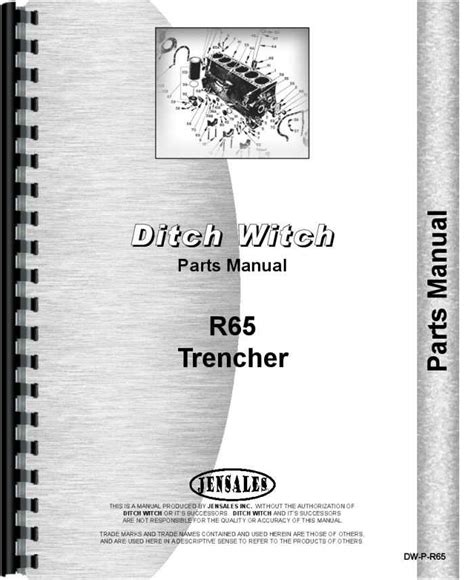 Ditch Witch R 65 Trencher Parts Manual
