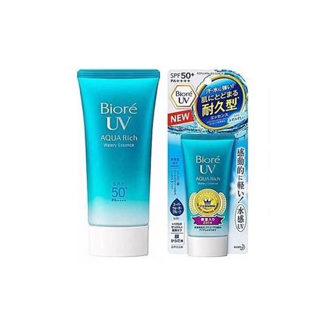 biore uv aqua rich watery essence spf 50 beautykitshop