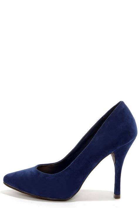 navy blue high heels pumps navy blue shoes high heels pointed pumps 25 00