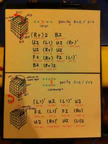 Rubik s cube my 5x5 parity solution notes put that down on paper for