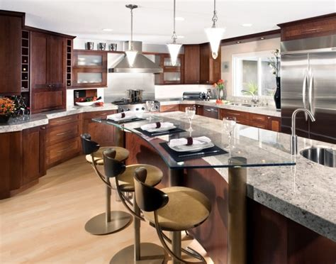Kitchen Table With Cabinets Underneath Kitchen Inspiring Eco Friendly Counter Tops Design For Kitchens Decoration Teamne Interior