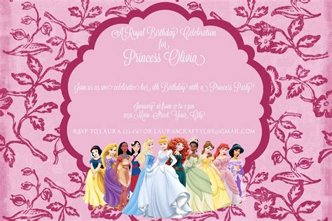 disney princess invitation card template disney invitations template resume builder