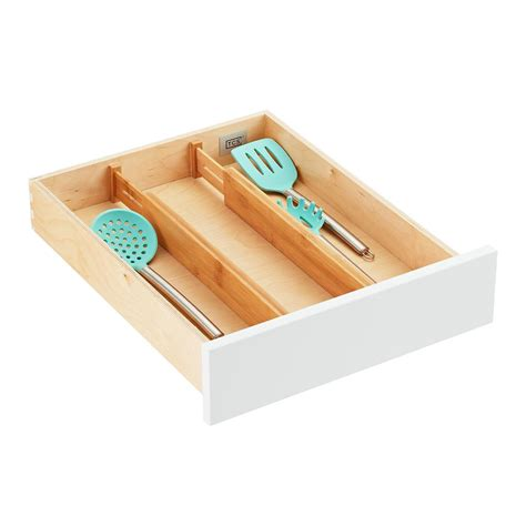 Kitchen Drawer Organizers by Bamboo Drawer Organizers The Container Store