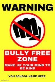 Create Anti Bullying Posters Online Postermywall Anti Bullying Flyer Template
