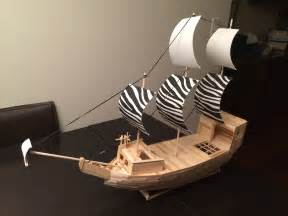 how to build a boat made out of wood pirate ship made out of popsicle sticks wooden dowels and