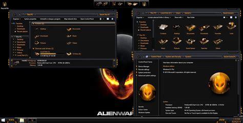 orange themes for windows 10 alienbreed orange skinpack for windows 7 8 8 1