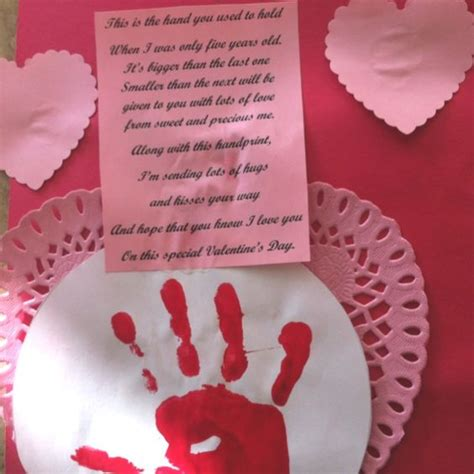valentines day poems for kindergarten poems for preschoolers handprint and poem for
