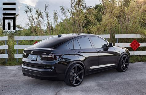 custom black bmw all black bmw x4 on custom wheels carid com gallery
