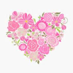 pink floral heart vector graphic free vector graphics