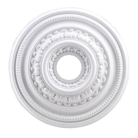 Ceiling Light Medallions Home Depot by Westinghouse 10 In Smooth White Finish Ceiling Medallion