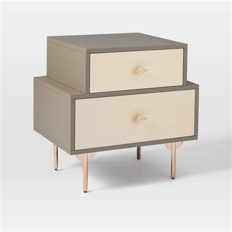 bedroom nightstands modern nightstands white modern nightstand west elm west