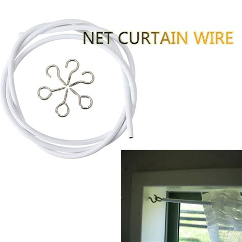 curtain spring wire 1m white window net caravan curtain wire spring cord cable