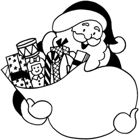 gift bag coloring page santa claus sack full of gifts fantasy coloring pages