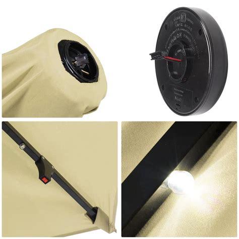 10 X6 5 Patio Solar Umbrella Led Light Tilt Deck Replacement Solar Panel For Outdoor Lights