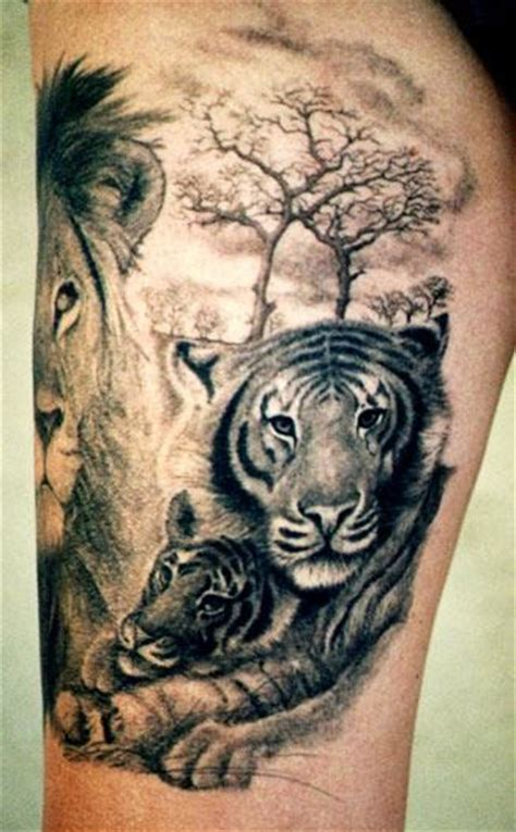 wild animal tattoo designs animal tattoos tattooic